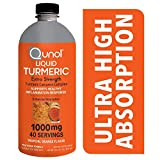 Qunol Liquid Turmeric Curcumin with Black Pepper 1000 Milligram, Anti-Inflammatory, Dietary Supplement, Extra Strength, 40 Day Supply, 40 Servings ... (40 Day Supply)