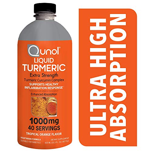 Qunol Liquid Turmeric Curcumin with Bioperine 1000 Milligram, Anti-Inflammatory, Dietary Supplement, Extra Strength, 40 Day Supply, 40 Servings … (40 Day Supply) ()