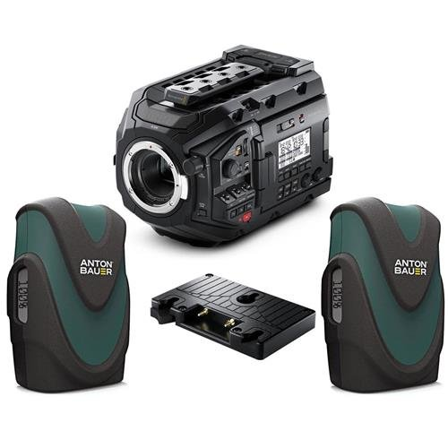 Blackmagic Design URSA Mini Pro 4.6K Camera with EF Mount, Bluetooth Camera Control - Bundle With 2x Anton Bauer Digital 90 Lithium-Ion Gold Mount Battery 14.4V 89Wh, Design Ursa Gold Battery Plate