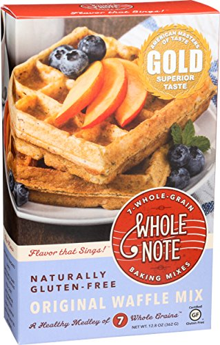 Whole Note 7-Whole-Grain, Original Waffle Mix, Naturally Gluten-Free (Pack of 3) ()