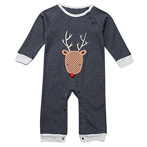 Le SSara Baby Boy Long Sleeve Cartoon Romper Christmas Bo...