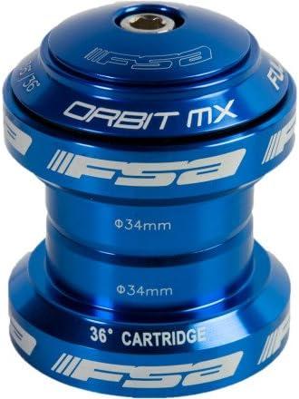 "Black Grey Blue FSA Orbit MX Threadless Bike Headset 1-1//8/"" 34mm with top Cap"