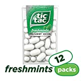 Tic Tac Fresh Breath Mints, Freshmint, 1 oz Singles, 12 Count