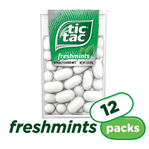 Tic Tac Fresh Breath Mints, Freshmint, 1 oz Singles, 12 -