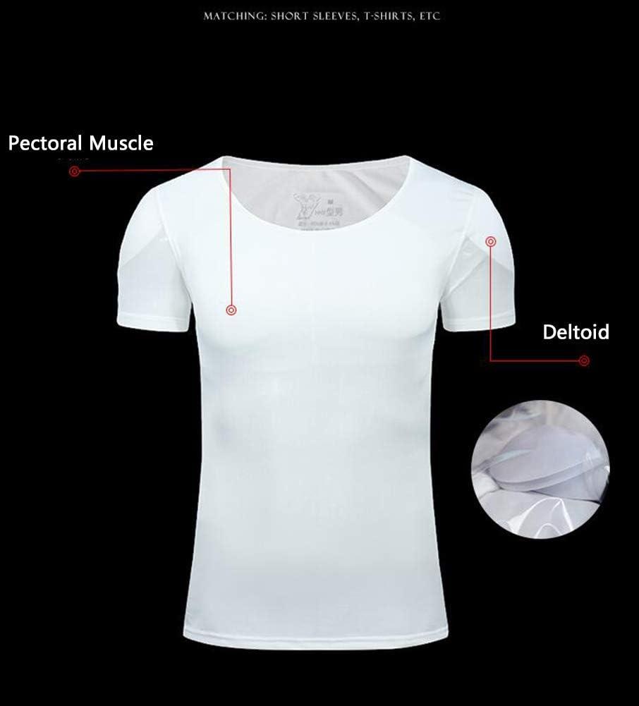 Invisibile Muscolo Falso Maglietta Uomini Shapewear Eroe Costume Cosplay 3D Muscolo Biancheria Intima ShortSleeve