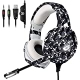 ONIKUMA Xbox one Gaming Headset, 【2019 Newest】 PS4 Headset with 7.1 Surround Sound, Noise Canceling Over-Ear...