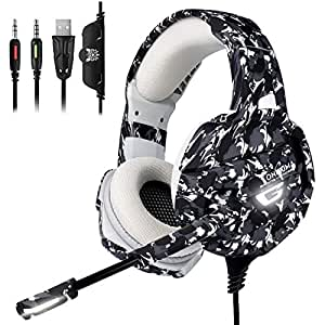 ONIKUMA Xbox One Gaming Headset, PS4 Headset with 7 1 Surround Sound, Noise  Canceling Over-Ear Headphones with Mic, Soft Memory Earmuff for PS4, PC,