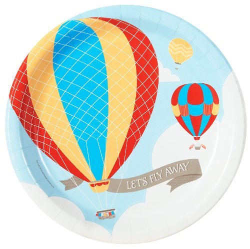 Hot Air Balloon Party Dinner Plates (8)