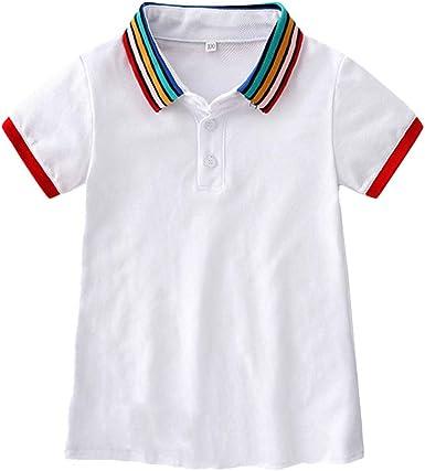DFVVR Playera polo de arcoíris para niña pequeña, vestido ...