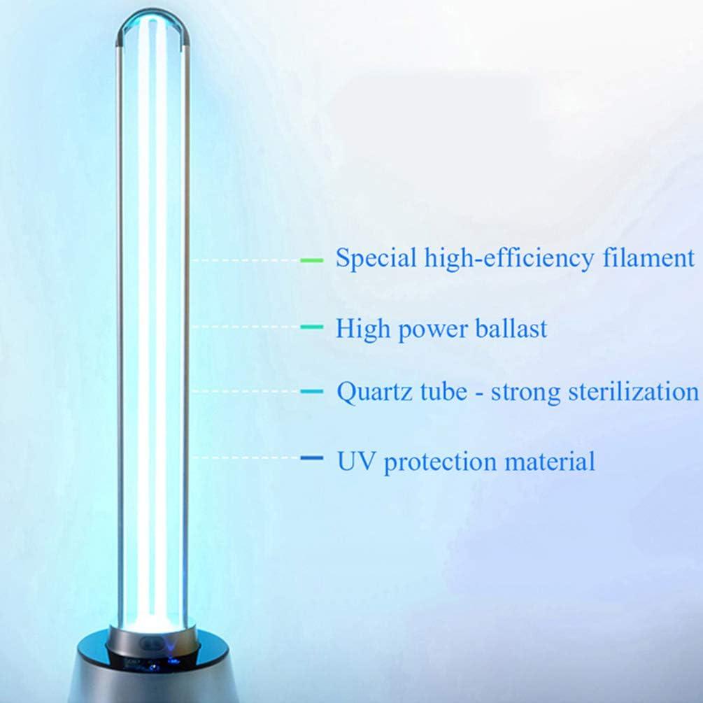 ZLYD 150w UV-ozon-keimt/ötende Lampe UVC-sterilisationslampe//Fernbedienung//Quarzlampendesinfektionslampe // 30 Sekunden Verz/ögerung Super High Power Desinfektion Und Desodorierung Tragbar
