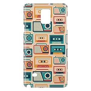 Loud Universe Galaxy Note 4 Retro Radio Print 3D Wrap Around Case - Multi Color