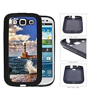 Seaside Lighthouse With Water Splashing View Rubber Silicone TPU Cell Phone Case Samsung Galaxy S3 SIII I9300
