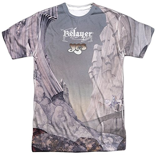Yes - Relayer Album Cover - All-Over Print Adult T-Shirt - XL