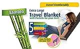 Cloudz Bamboo Travel Blanket with Bag - Light Blue