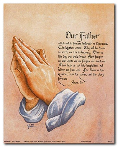 The Lord's Prayer Religious and Spiritual Wall Decor Art Print Poster