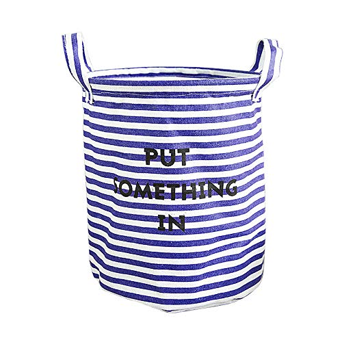 Fan-Ling Foldable Muticolor Storage Bin, Linen Desktop Storage Basket,Closet Toy Box Container Organizer Fabric Basket,Waterproof Storage Basket for Storing Parts, Stationery, Crafts, Jewelery (E) ()