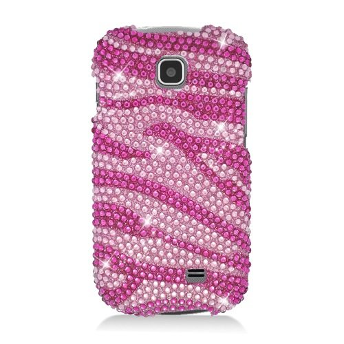 Boundle Accessory for At&t Samsung Galaxy Appeal I827 - Pink Zebra Rhinestones Hard Case Protector Cover + Lf Stylus Pen