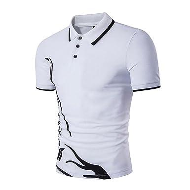 Hommes Polo Chemise Manches Courtes Casuel Sport T-Shirt Vin rouge Noir XXL hjq3Kq