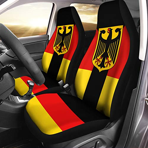 VTH Global German Coat of Arms Germany Flag Car Seat Covers Set of 2 Size Universal - Cover Germany