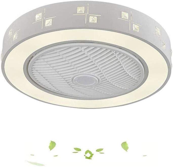 MYXMY Ventilador de Techo luz Creativa Moderna de Techo Ventilador de Techo de luz LED Regulable con la iluminación y Remoto Dormitorio silencioso Nursery lámpara de iluminación Oficina Restaurante
