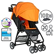 ZOE XL1 DELUXE Xtra Lightweight Travel & Everyday Umbrella Stroller System (Orange)