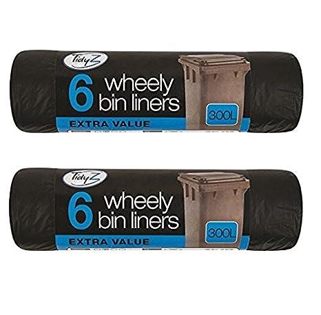 2 x Tidyz Extra grandes bolsas de basura 6 300L negro punta ...