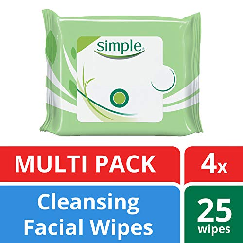 Simple Kind to Skin Facial Cleansing Wipes For Clean Skin Cleansing Face Wipes and Makeup Remover For Sensitive Skin 25…