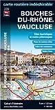Bouches-du-Rhône (13), Vaucluse (84) - Carte Départementale Routière et Touristique (échelle 1/180 000)
