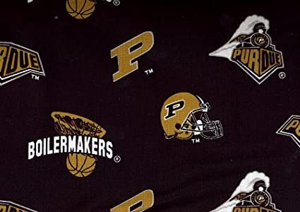 100/% Cotton 44 Wide By the Yard Purdue Univerisity
