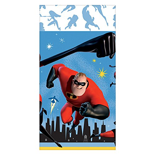 Disney Incredibles 2 Party Plastic Table Cover 54 x 96 inches Plus Party Planning Checklist by Mikes Super Store Amscan /& MSS 2 Pack