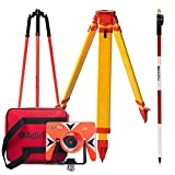Total Station Starter Kit, Includes: All-Metal Single Tilt Prism , Aluminum 8.5' Prism Pole Quick Release Clamp, Heavy Duty Fiberglass Tripod, Prism Pole Tripod