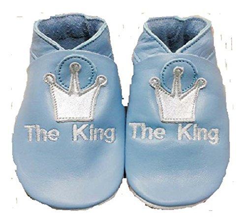 Die King Leder Baby Schuhe Blau