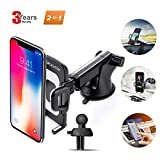 #5: Car Phone Mount,Universal Air Vent Phone Holder for Car Cell Phone,Upgrade 360 Degrees Soft Rubber Car Phone Holder Dashboard Windshield Mount for iPhone,Galaxy,LG and More By SPCEUTOH (Black)