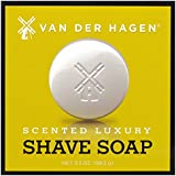 Best Shaving Soap - Made with Glycerin, Shea, Mango & Cocoa Butters - Moisturizes & Soothes Face - Help Prevent Razor Burn - Light Floral Scented Shave Soap / 3.5 oz. Men's Skincare by Van Der Hagen