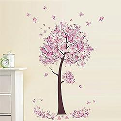 Wall Sticker, Hatop New Butterfly Flower Fairy stickers Bedroom Living Room Walls (B)