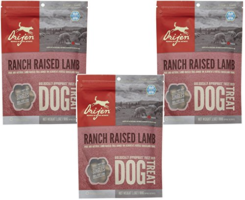 Orijen Freeze Dried Dog Treats Alberta Lamb 3.5oz (Pack of 3)