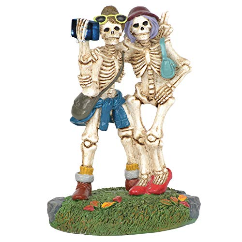 Department 56 Village Cross Product Accessories Halloween Skelfie Flashing Figurine, 3.25 Inch, Multicolor