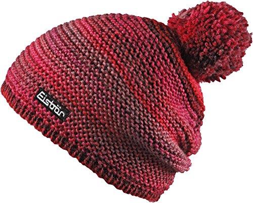 Eisbär Invierno Color roteffekt nbsp;– Adulto Unisex Pompon Otoño jeanseffekt Talla kunita Tamaño única nbsp;Gorro OX8HwXq