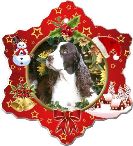 - English Springer Spaniel Porcelain Holiday Ornament