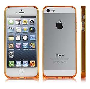 Sinjimoru InLite Case Ultra Thin Bumper Case for iPhone 5 (Color Option: Orange)