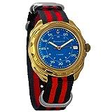 Vostok Komandirskie Commander Russian Army Mens Mechanical Military Wrist Watch #219181 (Black+red)