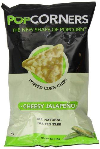 Popcorners Cheesy Jalapeno Popped Corn Chips, 5-Ounce (Pack of 12) (Popcorner Jalapeno)