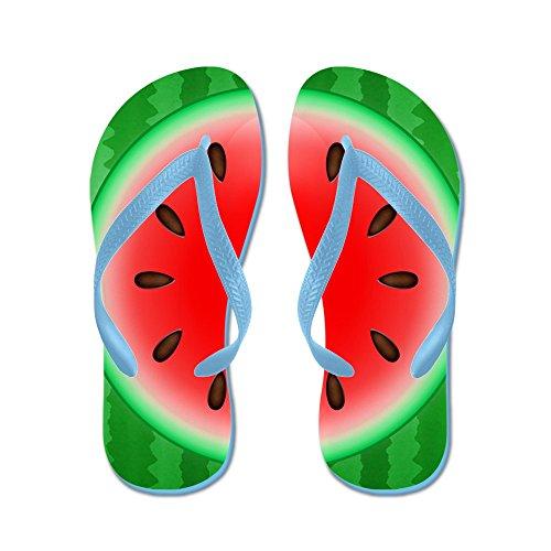 CafePress Watermelon Slice - Flip Flops, Funny Thong Sandals, Beach Sandals Caribbean Blue
