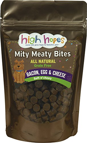 High Hopes for Pets Mity Meaty Bites Bacon, Egg and Cheese Soft and ()
