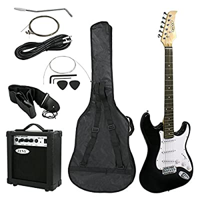 ZENY 39'' Full Size Electric Guitar with Amp, Case and Accessories Pack Beginner Starter Package