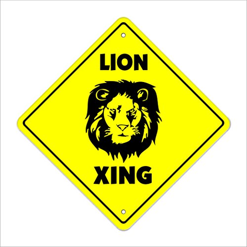 Cheap  Lion Crossing Sign Zone Xing | Indoor/Outdoor | 12