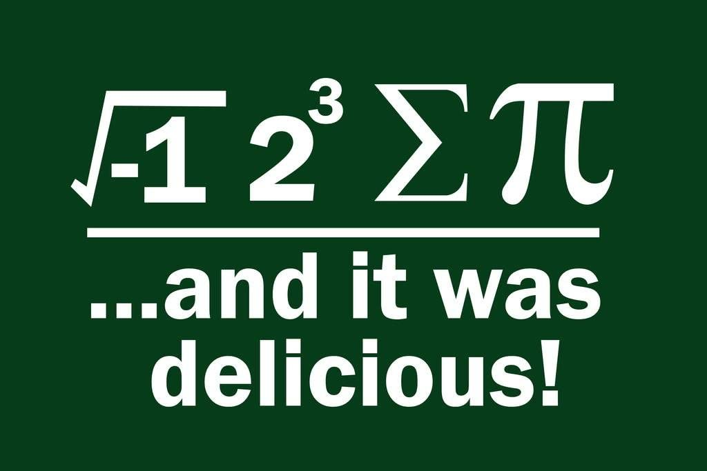 I Ate Sum Pi and It was Delicious Math Poster for Middle School Classroom School Teacher Educational Homeschool Teaching Class Room Supplies Decorations Cool Wall Decor Art Print Poster 36x24