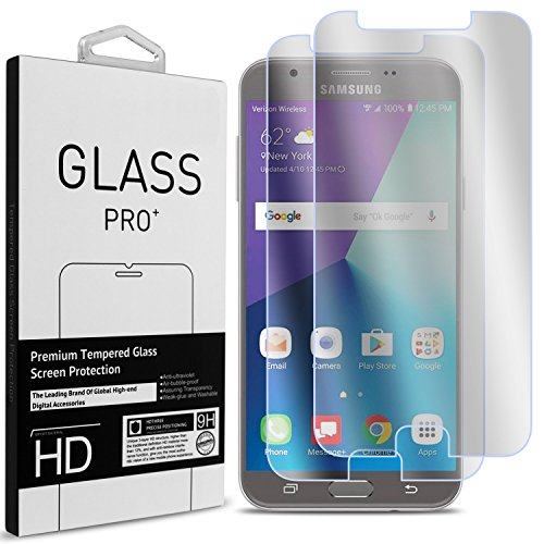 Tempered Glass Screen Protection for Samsung Galaxy J7 (Clear) - 9