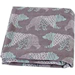 LifeTree-Baby-Swaddle-Blankets-Bear-Print-Swaddle-Wrap-Soft-Silky-70-Bamboo-30-Cotton-Muslin-Swaddle-Blanket-Unisex-Neutral-Receiving-Blanket-for-Boys-and-Girls-47-x-47-inches
