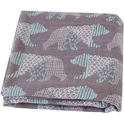 Baby Muslin Receiving Blanket 47x47 Inches 70/% Bamboo 30/% Cotton Swaddle Wrap